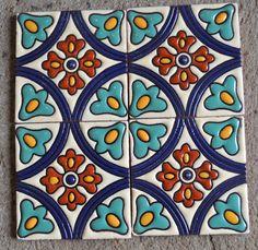 6 piezas Azulejos 6x6 o 4x4 hecho a mano.