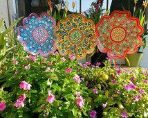 Metall Blumengarten Beteiligung - große, Garten-Dekor, Geschenk für sie, Kunst an der Baustelle, Frühlingsblumen, Geschenke für Gärtner, Outdoor Hof, Garten-Kunst