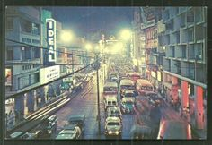 This is a colour postcard of Manila, Philippines. It shows a beautiful lively view of Rizal Avenue with a lot of Buses and Cars at night. This postcard was published by Colourpicture Publisher's Inc. in the Distributed by National Book Store, Manila. Filipino Architecture, Philippine Architecture, National Book Store, Filipino Culture, Makati, Manila Philippines, What A Wonderful World, Urban Photography, Pinoy