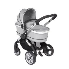 #iCandy Peach 2 Stroller and Carrycot - Silver Mint http://www.babydino.com/icandy-pear-tandem-7