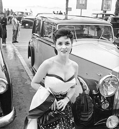 Gina Lollobrigida photographed by Edward Quinn. Cannes Film Festival, 1954.