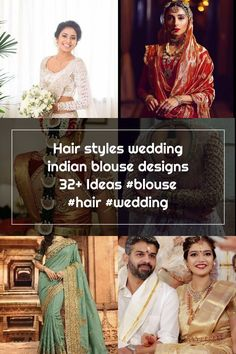 Hair styles wedding indian blouse designs 32+ Ideas #blouse #hair #wedding Indian Blouse, Wedding Sarees, Hair Wedding, Blouse Designs, Wedding Hairstyles, Sari, Hair Styles, Ideas, Fashion