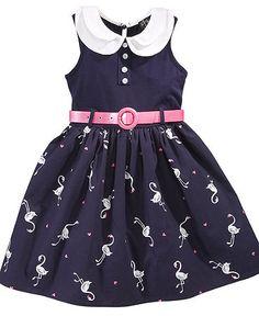 Pink & Violet Kids Dress, Little Girls Peter Pan Collar Dress   Web ID: 766543
