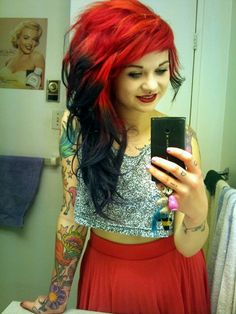 1000+ images about red and black hair on Pinterest | Black ...