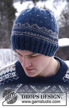 "Ravelry: 0-810 Men's hat with Norwegian pattern in ""Karisma Superwash"" pattern by DROPS design"