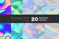 20 Holographic seamless textures by Pykhtik on @creativemarket