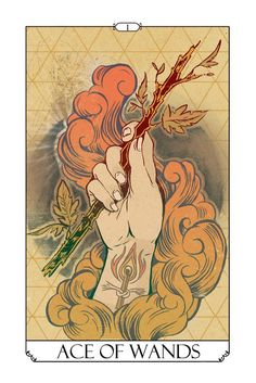 #Ace of #Wands #Tarot Card