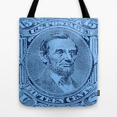 Lincoln-1866 (15 cents stamp) Tote Bag
