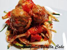 "Fragrant Vanilla Cake: Raw Mushroom ""Meatballs"" with Summer Tomato Spaghetti"