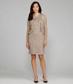 Jessica Howard Ruffle Bolero Jacket Dress | Dillards.com