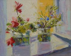 Flower painting oil floral art canvas wall art flowers by Pysar