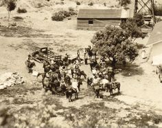 DIRECTED BY JOHN FORD - A John Ford fim shoot on the Harry Carey Ranch near Saugus, California.