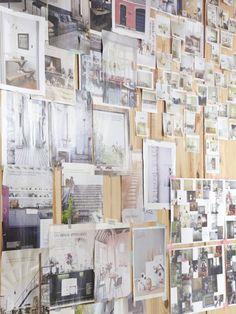 TOUCH cette image: Dans le bureau d'Aurélie, toutes ses inspirations du moment. by The Socialite Family