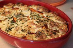Gratin panais / patate douce http://cestmasoeurquiregale.e-monsite.com/pages/les-plats/les-accompagnements/gratin-panais-patate-douce.html