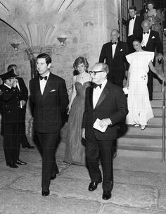 March 6 1984 Charles & Diana attend a Jewish Welfare Board Dinner at the Guildhall in London to mark the 125th anniversary of the Jewish Welfare Board in London