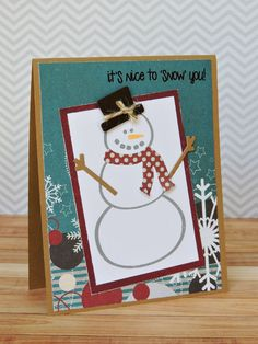 card by Laura Williams, featuring snowman2build stamps by The Stamps of Life
