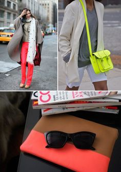 Fashion Inspiration: Neons and Neutrals
