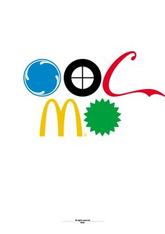by Build (All are Olympic official sponsors. Top row from left: General Electric logo / BMW logo / Coca-Cola logo - Bottom row from left: McDonald's logo / BP logo).