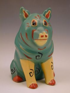 Louis Wain Ceramic - The Lucky Pig - Amphora for Max Emanuel