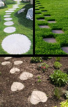 Stepping stone tutorial here http://t.idealhomegarden.com/idealhomegarden/#!/entry/how-to-make-stepping-stones,51383b4cd7fc7b56705b9e84