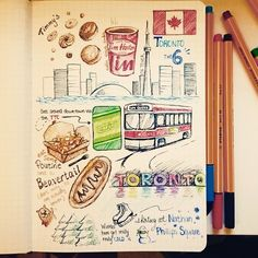 Traveling can be fun but sometimes makes us homesick. @_colon3 remedied this by doodling about her hometown. Love it!