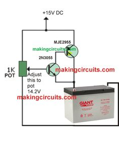 In this article we will build an easy lead acid battery charger circuit which will give you of current. Basic Electronic Circuits, Electronic Circuit Design, Electronic Schematics, Electronic Engineering, Lead Acid Battery Charger, Battery Charger Circuit, Automatic Battery Charger, Electronics Basics, Electronics Projects