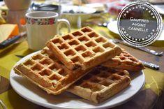 Gaufres avoine cannelle - Auboutdelalangue.com (8) Beignets, Pesto, Waffles, Pancakes, Breakfast Recipes, Dessert Recipes, Cordon Bleu, Eclairs, Tasty Dishes
