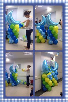 El paso a paso para realizar la decoración en la clínica Baby Shower Balloons, Hanukkah, Ideas, Design, Home Decor, Birth, Step By Step, Decorations, Decoration Home