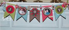 Stampin' Up!  Joy Banner  Page Cherry  Christmas