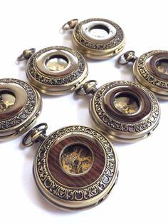 Groomsmen Gift Personalized Mens Pocket Watch Steampunk Mechanical Wat – PocketWatchKeepsakes