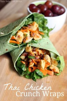 A Happy Picnic + Thai Chicken Crunch Wraps recipe from TastesBetterFromScratch.com