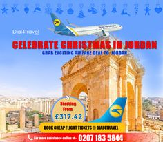 Grab this exciting to and make this celebration memorable forever. Celebrate in between the Jordan culture & rituals and experience it once. Get tickets now. Call at: 0207 183 5844 Best Airfare Deals, Book Cheap Flight Tickets, Get Tickets, How To Memorize Things, Celebration, Culture, Books, Christmas, How To Make