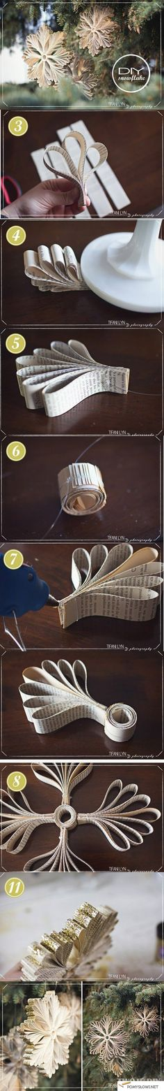 Choinkowa ozdoba z papieru - Pomyslowi.net