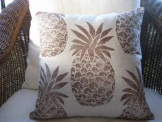 pineapples! Love the fabric. Could find stencil and DIY