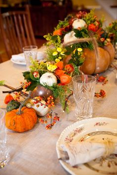 Thanksgiving Fall Tablescape Ideas From Holly Chapple 17 | photography by http://genevieveleiper.com/