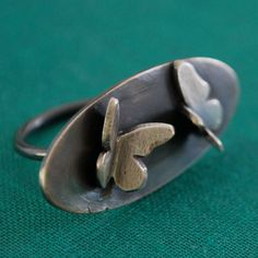 Handmade Butterfly Ring in Sterling Silver by Kathryn Cole
