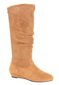 Roamans Plus Size Peggy Boots by Comfortview (COGNAC,10 W) $124.99