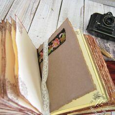 Crimson wedding guest book photo album por SevenMemoriesBookArt