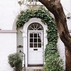 Ivy covered entryway