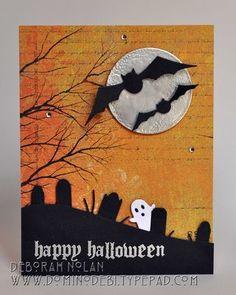 memori box, halloween cards, bats, metal, boxes