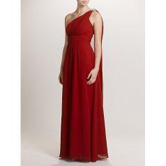 Buy Ariella Celia Chiffon Long Dress, Red Online at johnlewis.com