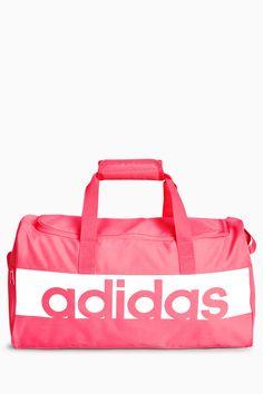 7b45c4e7adb4 Mens adidas Pink Linear Duffle Bag - Pink
