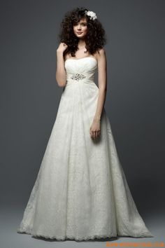 Ivory Luxury Ruched Lace Simple Elegant Wedding Gowns 2011 Online