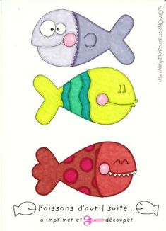 DIY - Print, cut out the fish & get ready for a day full of jokes...