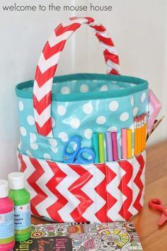 50   Fabric Baskets  and Bins Tutorials