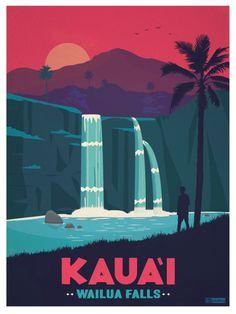 Image of Vintage Kaua'i Poster