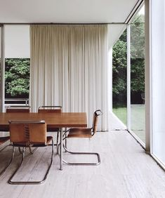 Dream Home Interior Want a standout living or dining room? Ripple Fold Drapes in Belgian Linen can make all the difference.Dream Home Interior Want a standout living or dining room? Ripple Fold Drapes in Belgian Linen can make all the difference. Farnsworth House, Maison Farnsworth, Outdoor Dining Furniture, New Furniture, Furniture Design, Furniture Ideas, Dining Chair, Furniture Makeover, Dining Room Inspiration