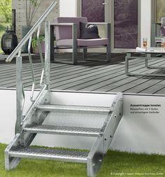 """Das neue Wangensystem """"Innotec"""" besteht je Steigung immer aus einem Paar handlicher Segmente (rechts/links). Wangensystem der Aussentreppe begeistert - es wurde für den Stahl-Innovationspreis 2012 nominiert."""