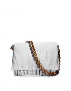 Proenza Schouler Small White Fringe Courier Bag