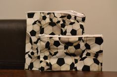 Reusable Snack Bags  Soccer Balls by OnTheMarkCreations on Etsy, $10.00